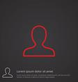 profile outline symbol red on dark background logo vector image vector image
