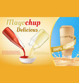 promotion banner of mayochup sauce vector image vector image