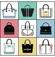 Purse icon set vector image vector image
