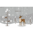 reindeer with tree vector image vector image