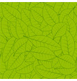 seamless green leaf pattern background vector image