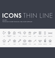 security thin line icons vector image