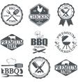 set butcher shop labels vector image vector image