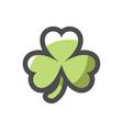 shamrock green clover icon cartoon vector image