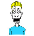 shocking face with color vector image vector image