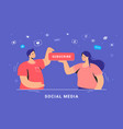 social media marketing and increasing audience vector image vector image