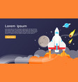 space shuttle and planets and graphic design vector image vector image
