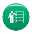 speech icon green vector image vector image