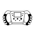 steering wheel racer silhouette vector image vector image