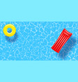 swimming pool top view background rubber ring and vector image vector image