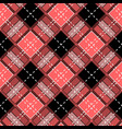 tartan plaid scottish pattern in black red and vector image