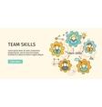 Team Skills Banner Avatar in Gear vector image vector image