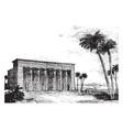 temple restored vintage engraving vector image vector image