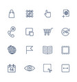 thin line icon set icons for web apps programs vector image vector image