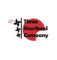 Three Shurikens Sign vector image vector image