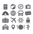 Travel and tourism icons vector image vector image