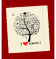 Tree of knowledge vector image vector image
