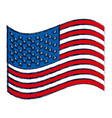 watercolor silhouette of waving flag of the united vector image