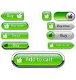 web buttons green vector image vector image