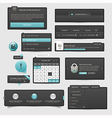 Website template UI elements vector image vector image