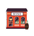 wine shop flat alcohol drinks vector image