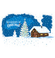 winter countryside landscape with a house snowman vector image vector image