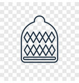 winter hat concept linear icon isolated on vector image