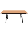Wooden dining table vector image vector image