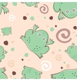 frogs pattern vector image