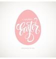 Happy Easter Egg Lettering Poster vector image