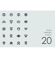 Set of premium quality icons vector image