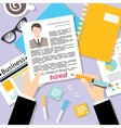 Business cv background vector image