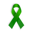 Green ribbon Scoliosis Mental health and other vector image