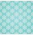 Blue seamless snowflake pattern vector image