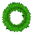Green Leaves Round vector image