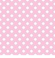 Seamless pattern polka dots on pink background