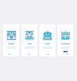 3d technology virtual glasses ux ui onboarding vector image vector image