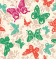 Abstract exotic seamless pattern with butterflies vector image