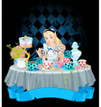 Alice Takes Tea Cup vector image