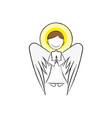 angel wing fly cupid minimalistic vector image vector image