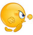 Angry walk emoticon vector image
