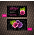 Business card with naturalistic floral composition vector image vector image
