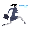 Business lady running template vector image vector image