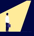 business recruitment man in spotlight office vector image vector image