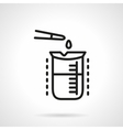 Chemical analysis simple line icon vector image vector image