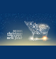christmas background on the dark blue backdrop vector image