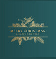 christmas frame banner with vintage typography vector image
