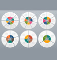 circle infographic round diagram of process steps vector image vector image