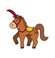 circus horse cartoon vector image vector image