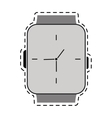 classic analog watch line vector image